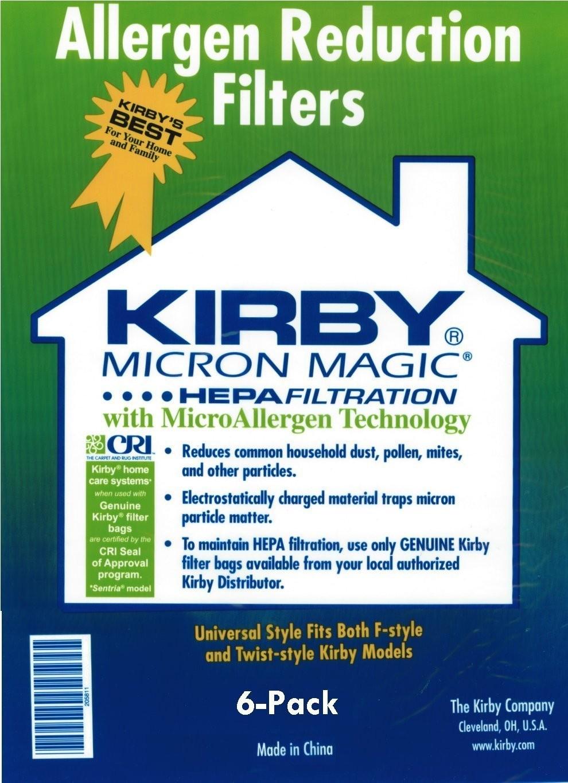 Kirby Universal Hepa Bag Kirby 6 Pack