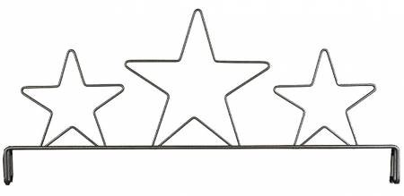 12in Three Star Header Silver Tex