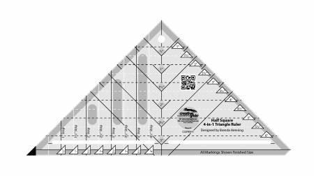 Creative Grids Half Square 4 in 1 Triangle Ruler