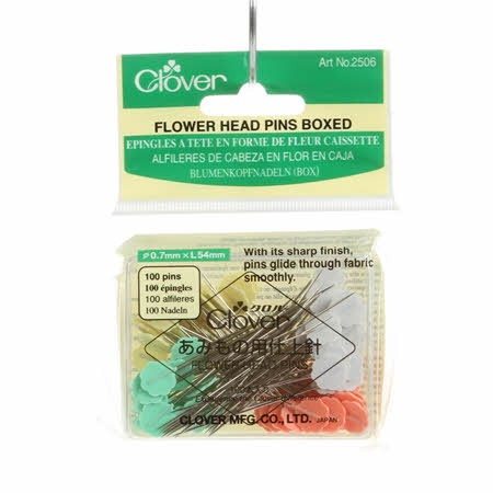 Flower Head Pins Boxed - 100 Count