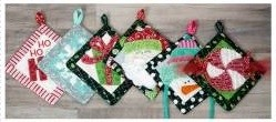 Christmas Chenille Hot Pads