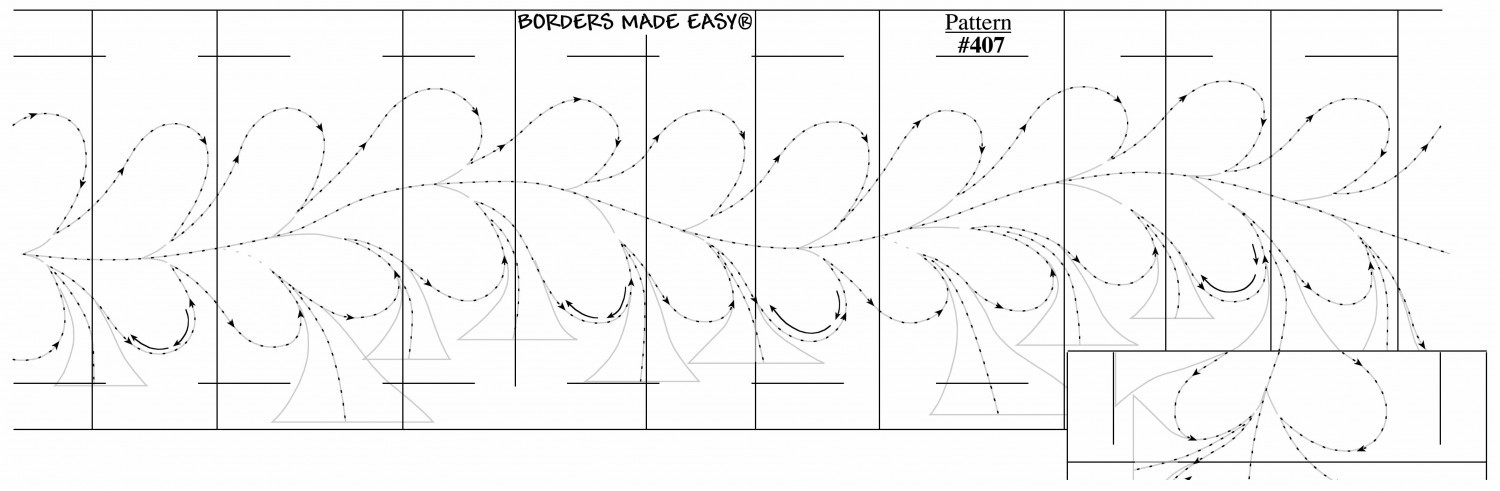 Borders Made Easy Feather 2 1/2in x 26'