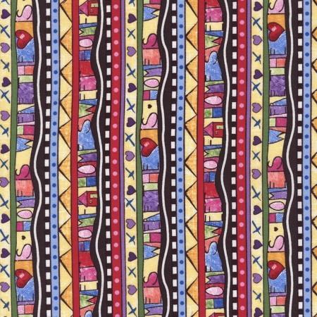 Row by Row Fabric Multi