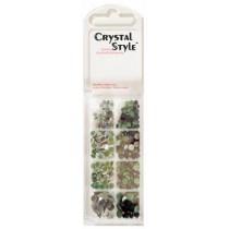 Eye Kandi 8 Section Crystal Pack Tuxedo Mix