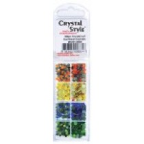 Eye Kandi 8 Section Crystal Pack Carribean Mix