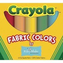 Crayola by Riley Blake Fat Quarter Box 10 Pcs