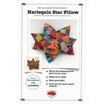 Harlequin Star Pillow
