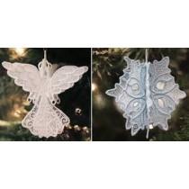 Multi Technique Lace Ornaments
