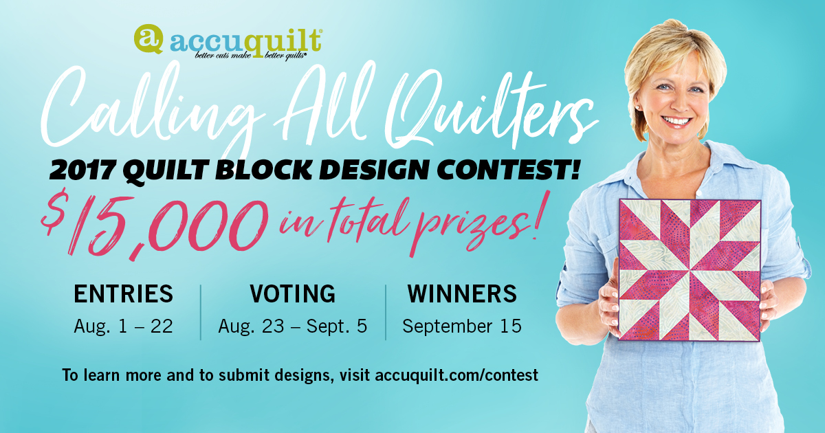 2017 Accuquilt Quilt Block Design Contest