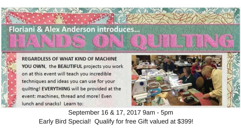 Floriani Hands On Quilting Event