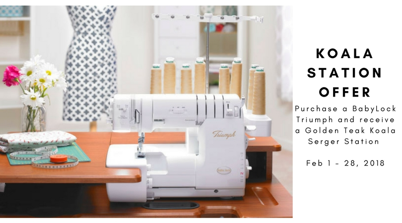 Babylock Triumph Serger Offer