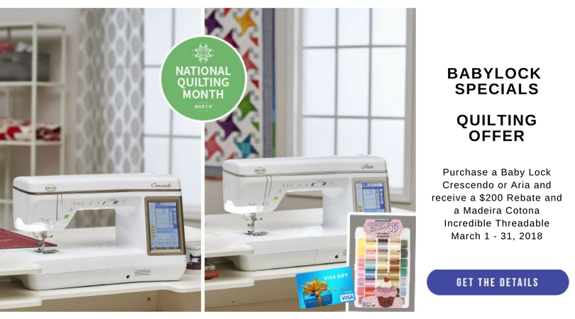 Babylock Quilting Offer