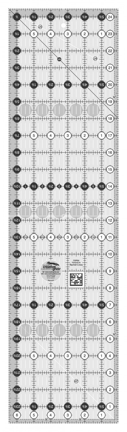 "Creative Grids Ruler - 6.5"" x 24.5"""