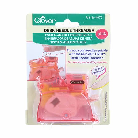 Desk Needle Threader - Pink