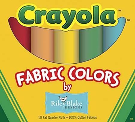 Crayola by Riley Blake Fat Quarter Box 10 Pcs