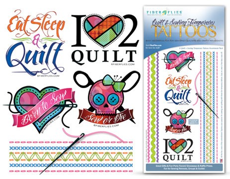 Quilt & Sewing Temporary Tattoos