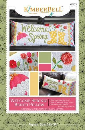 Welcome Spring Bench Pillow