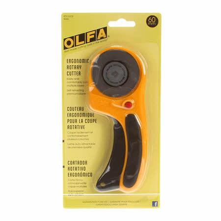 Olfa Ergonomic Rottary Cutter, 60MM - *RTY-3/DX