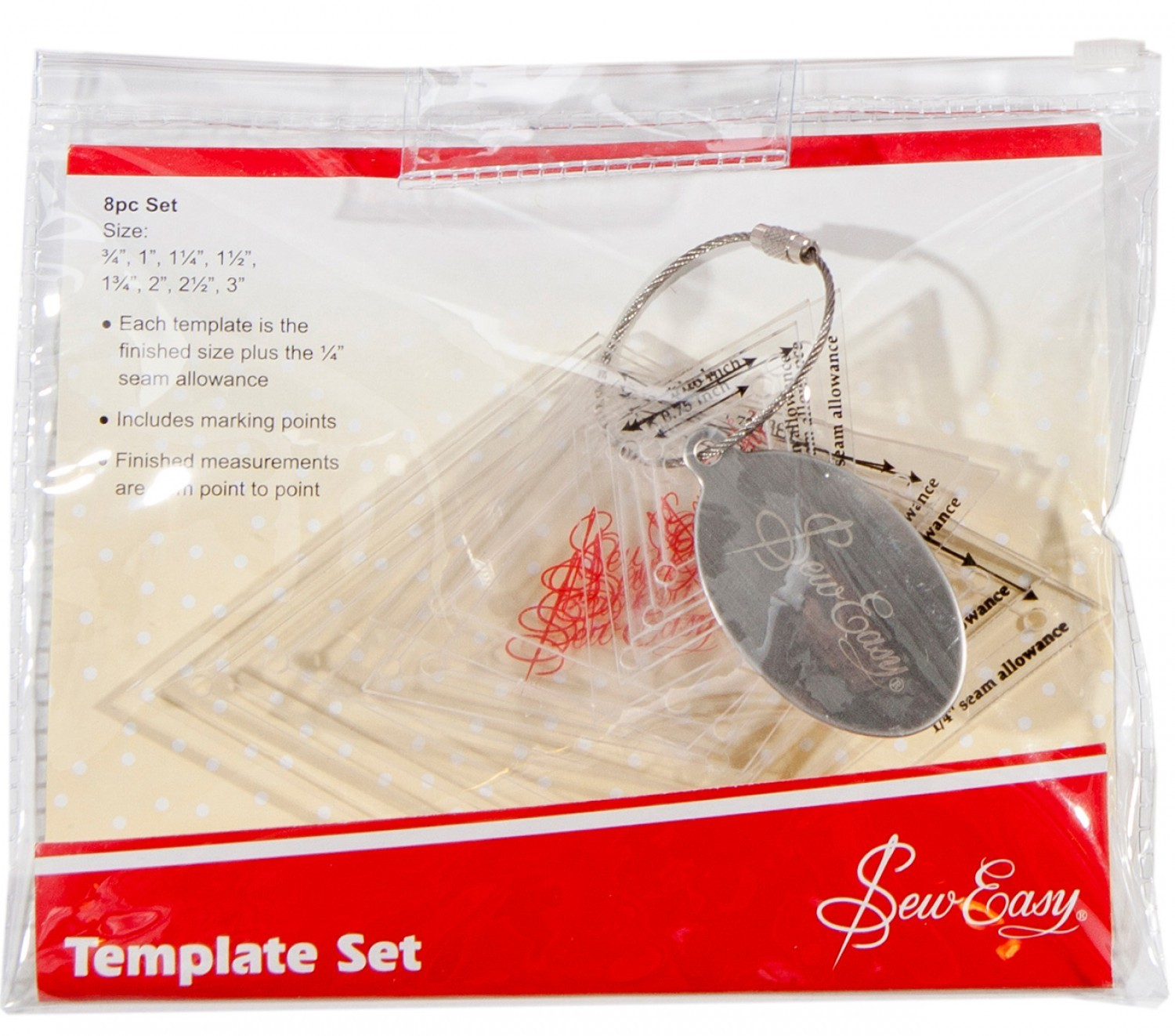 Sew Easy Mini Diamond Template 8pc Set