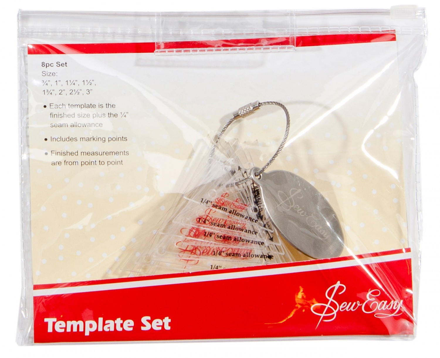 Sew Easy Template Set 8pc Size Set