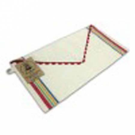 Aunt Martha's Vintage 1930 Striped Towel Sewing Sack Multi Plain Front